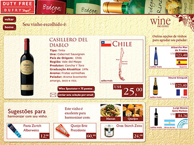 Sistema Vinhos Duty Free Shopping